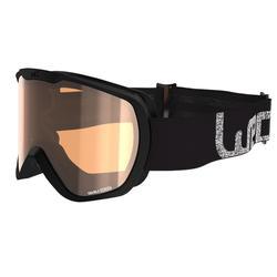 Skibrille Snowboardbrille G 500 S1 Schlechtwetter Erwachsene/Kinder schwarz