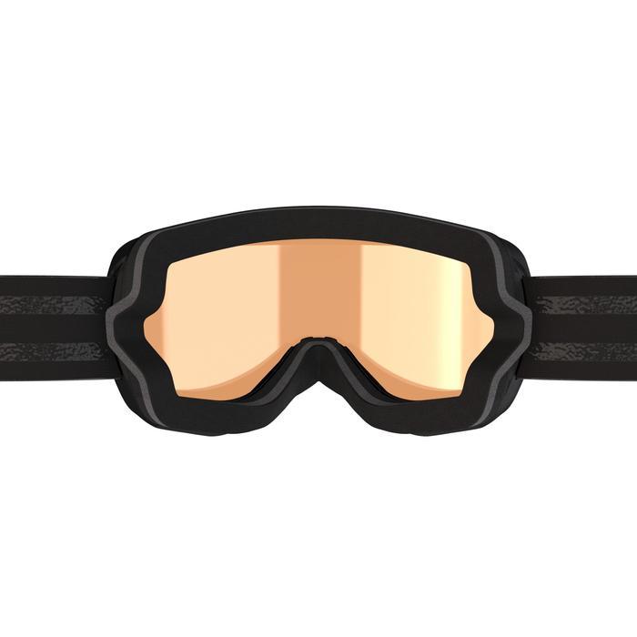 Ski- en snowboardbril volwassenen en kinderen G 500 S1 slecht weer zwart