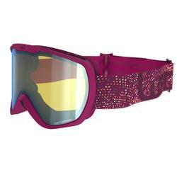 Ski- en snowboardbril volwassenen en kinderen G 500 PH elk weer paars