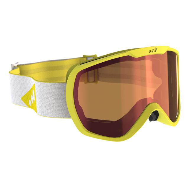 SKIING AND SNOWBOARDING GOGGLES ADULT AND CHILDREN G 500 GOOD WEATHER ASIAN BLUE