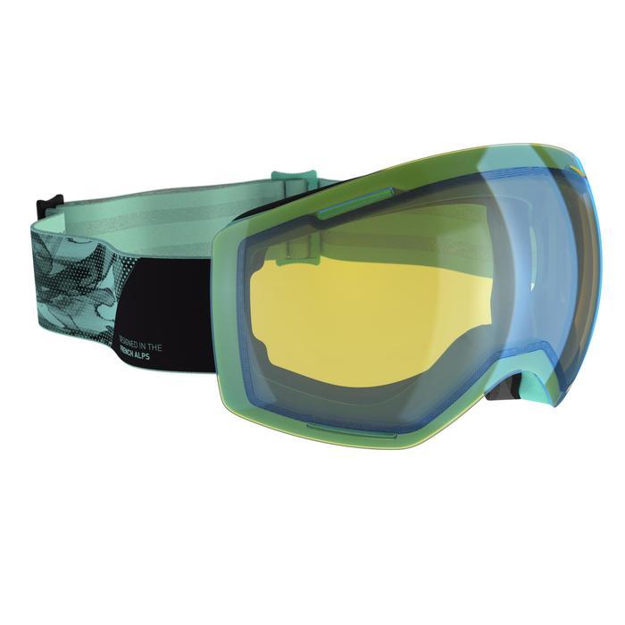 Ski- en snowboardbril volwassenen en kinderen G 520 PH groen
