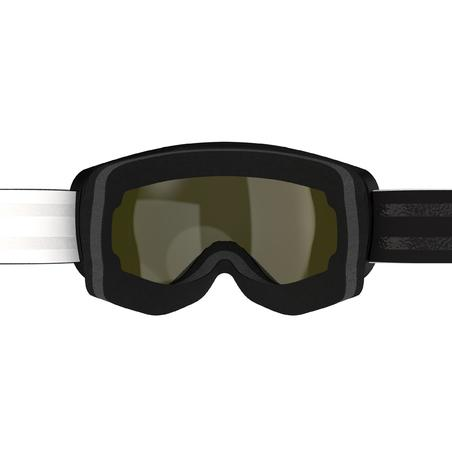CHILDREN'S AND ADULT'S SKIING AND SNOWBOARDING GOGGLES G 540 GOOD WEATHER - BLK