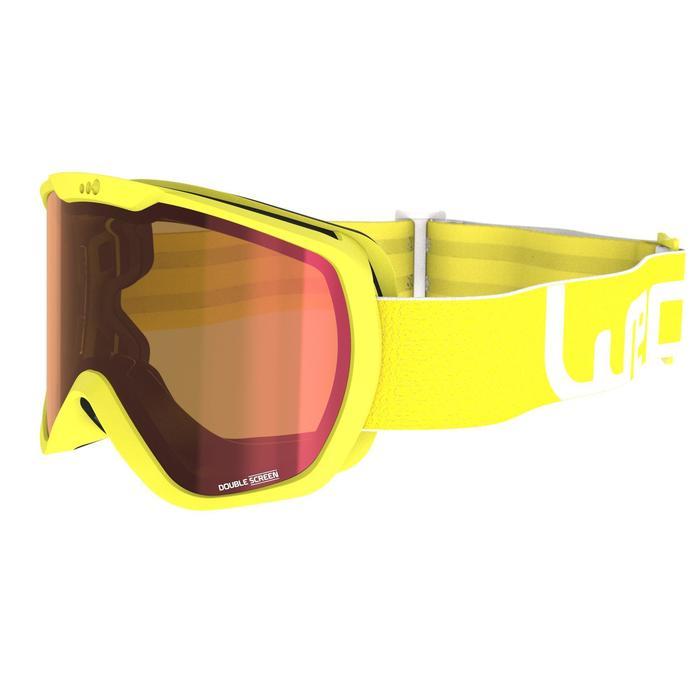 Ski- en snowboardbril volwassenen en kinderen G 500 zonnig weer Aziatisch blauw