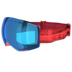 Ski- en snowboardbril dames en meisjes G 520 zonnig weer roze