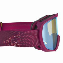 Ski- und Snowboardbrille Erwachsene und Kinder G 500 PH Allwetter violett