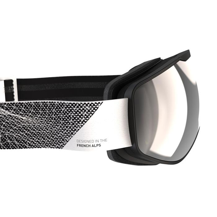 Ski- en snowboardbril voor kinderen en volwassenen G 900 mooi weer zwart