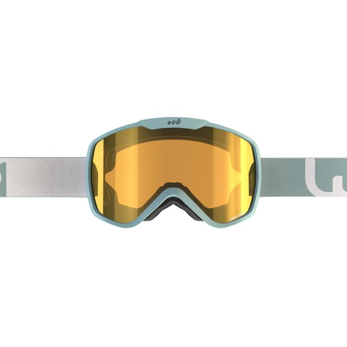 Ski- en snowboardbril volwassenen en kinderen G 500 zonnig weer blauw