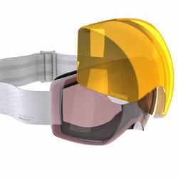 Ski- en snowboardbril volwassenen en kinderen G 520 I wit