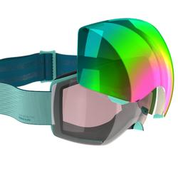 CHILDREN'S AND ADULT'S SKIING AND SNOWBOARDING GOGGLES G 520 I - ASIA GREEN
