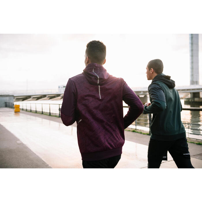 Laufjacke Run Warm+ Pocket Herren pflaume