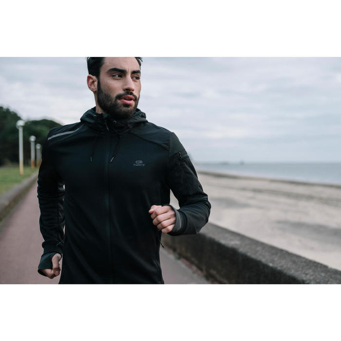 VESTE RUNNING HOMME RUN WARM+ NOIR