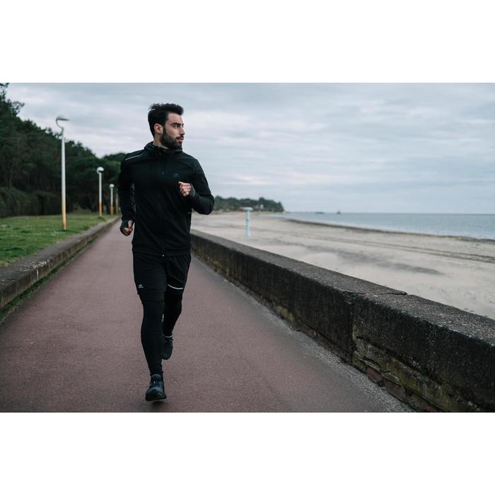 CHAQUETA DE RUNNING PARA HOMBRE RUN WARM+ NEGRA