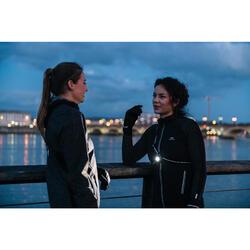 1 Laufjacke Run Warm Night Damen schwarz gemustert