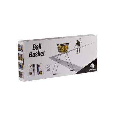 סל כדורי טניס עבור מאמנים - שחור