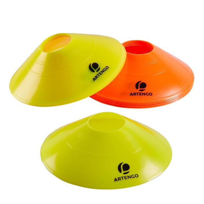 Spielfeld-Abgrenzungselemente Kegel Hütchen für Tennisplatz 12er-Pack