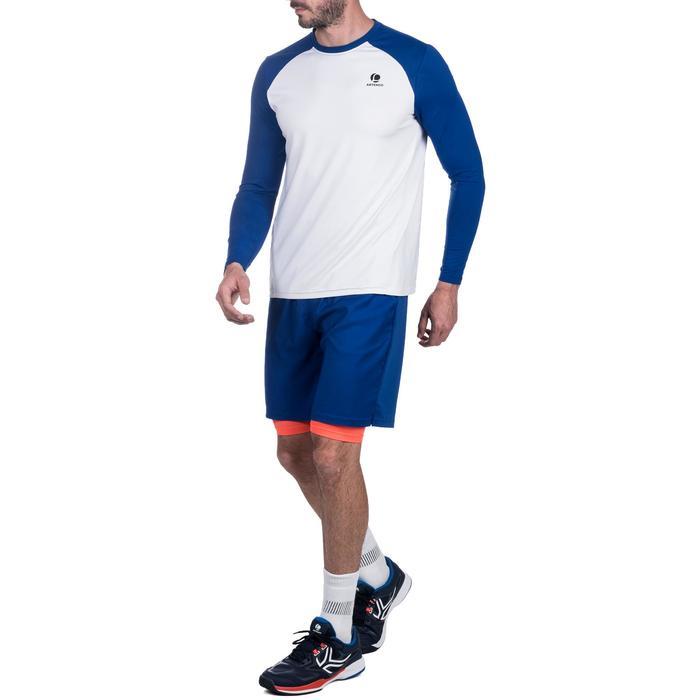 Tennisshorts warm 500 Herren marineblau/orange