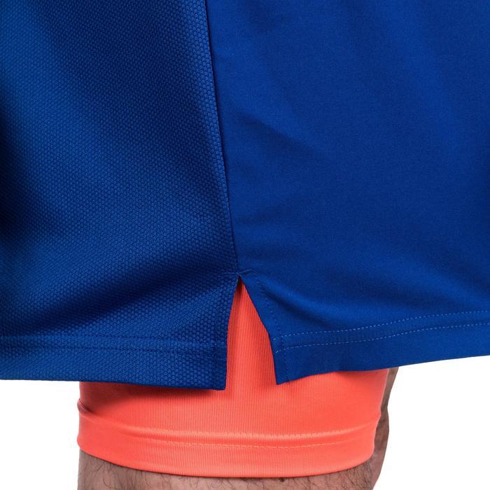 保暖運動短褲 500-藍橘配色