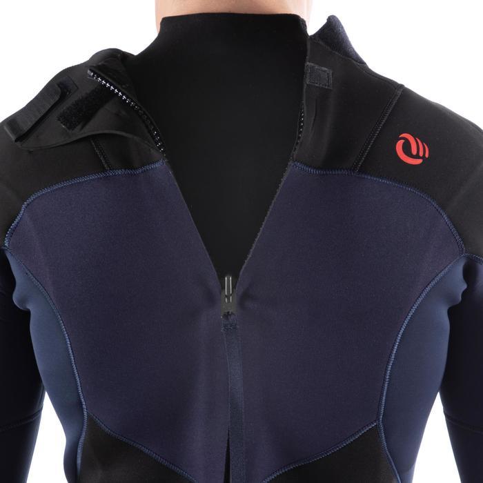 Heren wetsuit 500 neopreen 4/3 mm marineblauw - 1495464