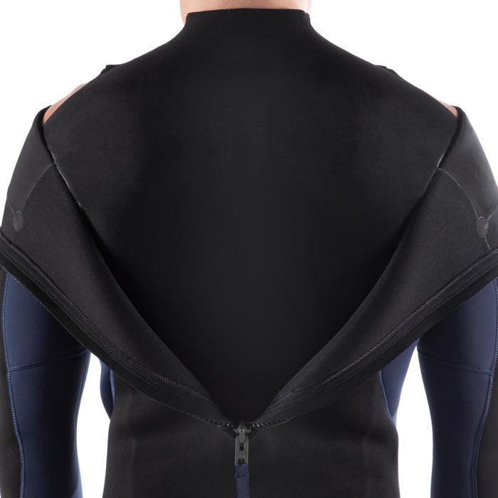 Heren wetsuit 500 neopreen 4/3 mm marineblauw