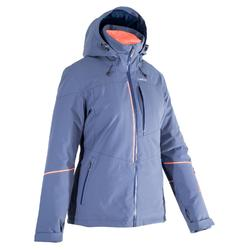 Chaqueta de esquí All Mountain Wed'ze AM580 Mujer Azul