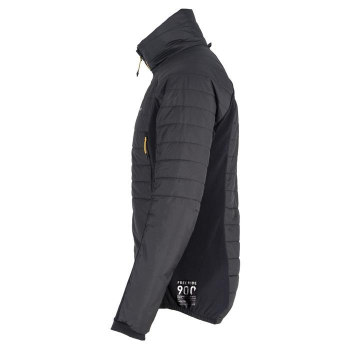 Chaqueta térmica acolchada de esquí freeride hombre SFR ACTIV 900 gris