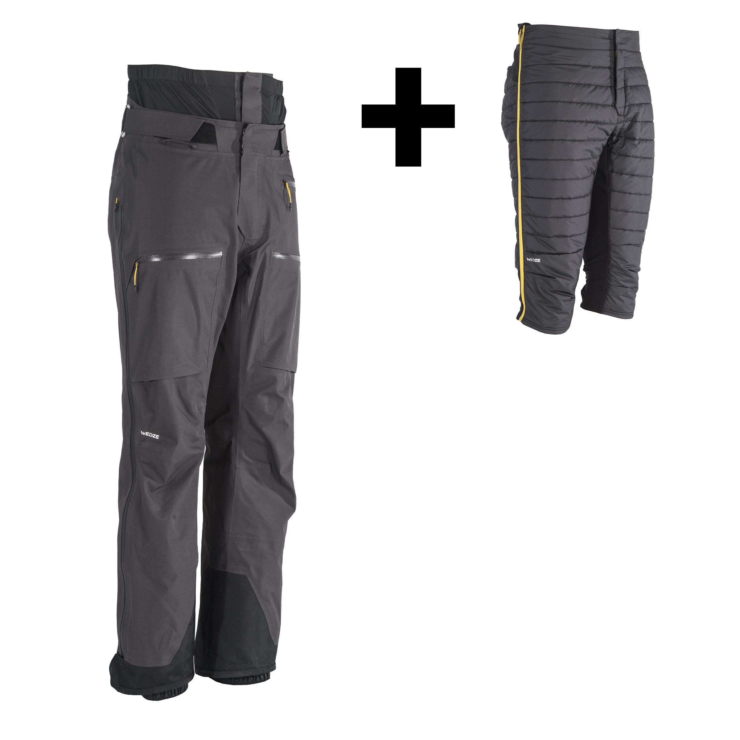 PA 900 Men's Freeride and Free Backcountry Ski Pants - Black