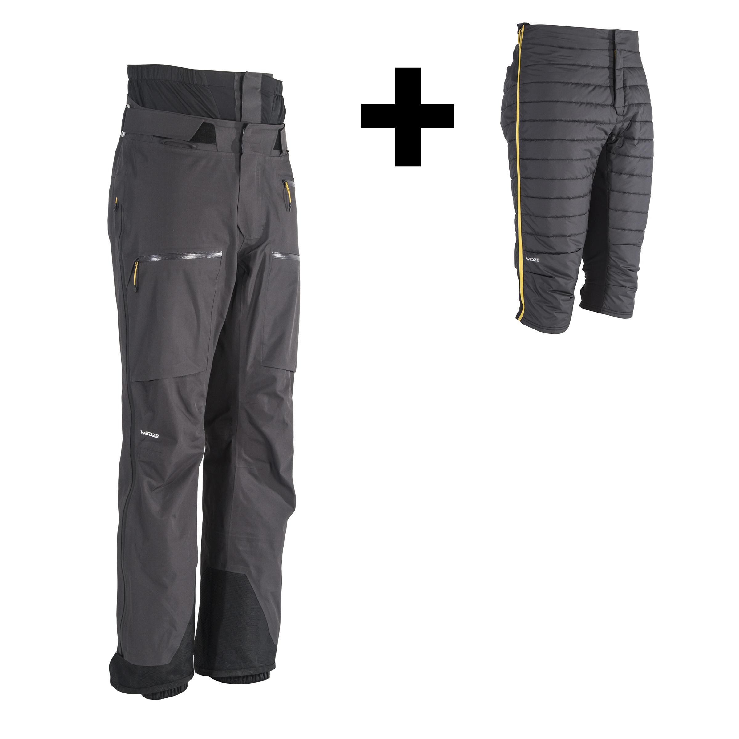 Pantalon de ski tout-terrain et randonnée homme PA 900 gris