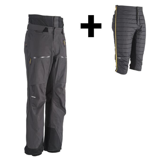 男款自由式與野外自由滑雪長褲PA 900 - 黑色