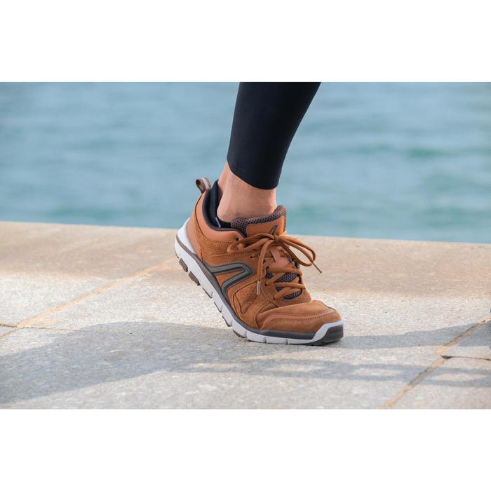 男款皮革健走鞋HW 540-茶色