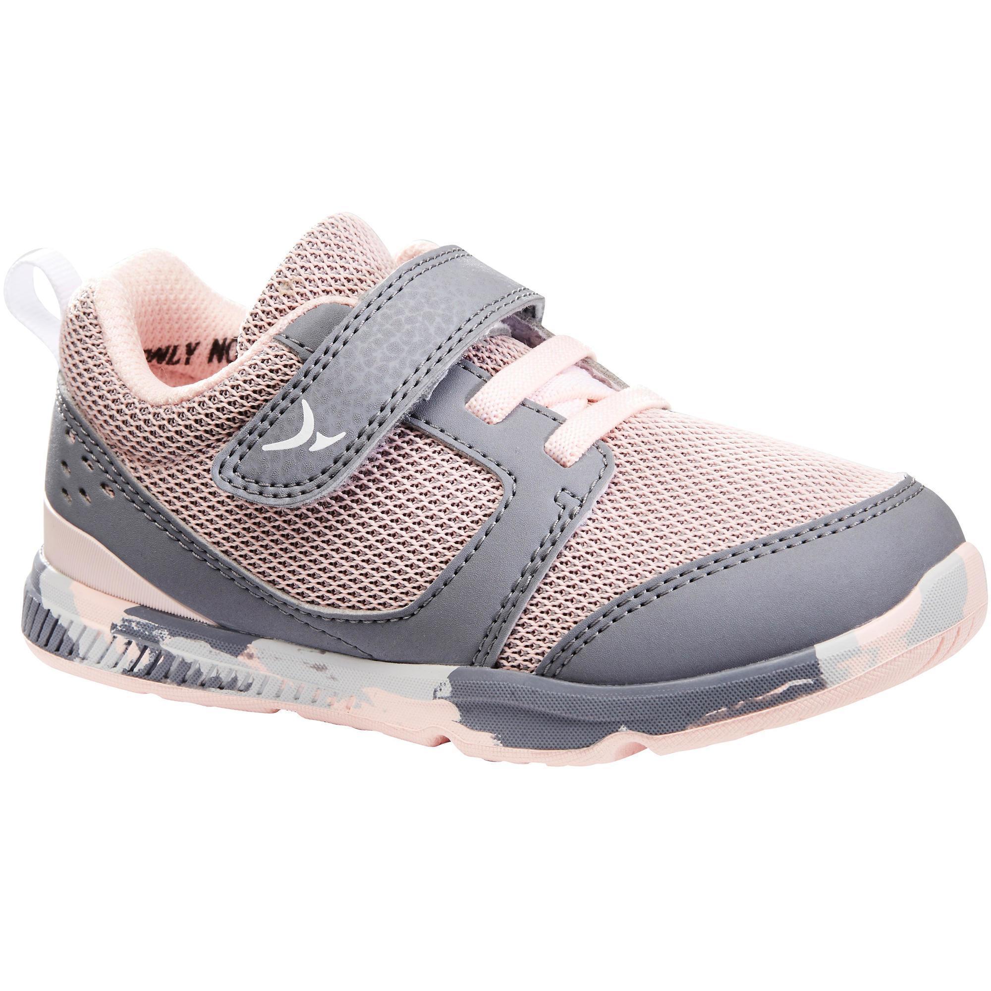 I Move Gym Shoes - Pink/Grey   Domyos