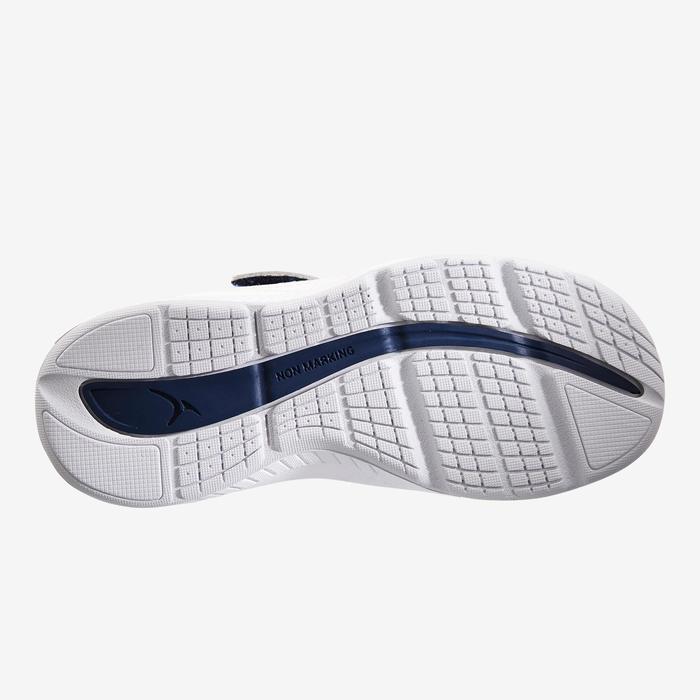 Schoentjes 560 I Move Breath voor kleutergym wit marineblauw