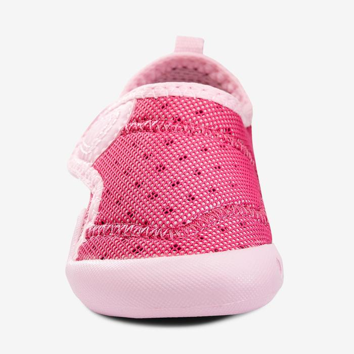 Zapatillas primeros pasos 500 BABYLIGHT GIMNASIA rosa fucsia