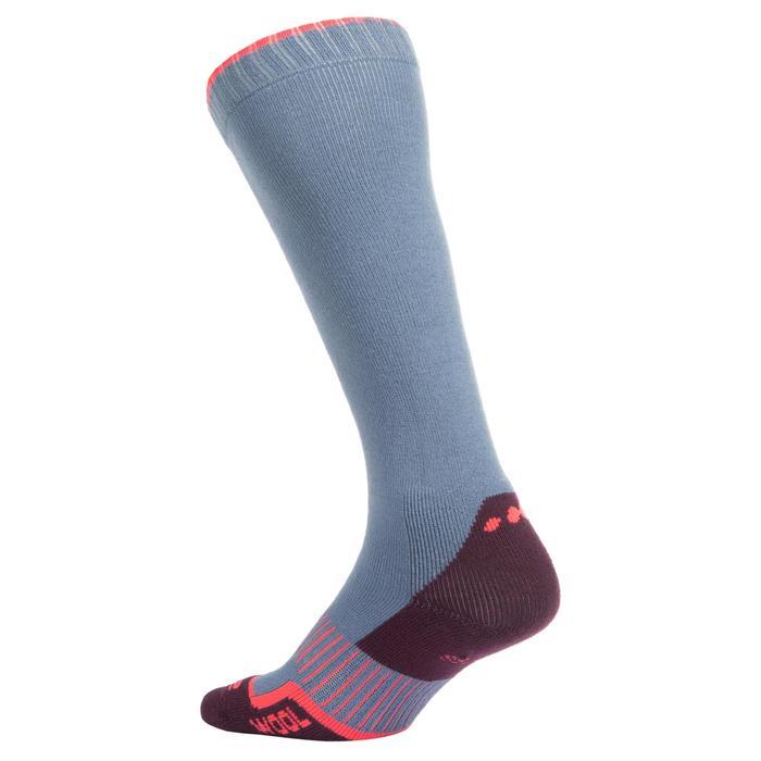 Skisokken volwassenen 100 blauw/roze