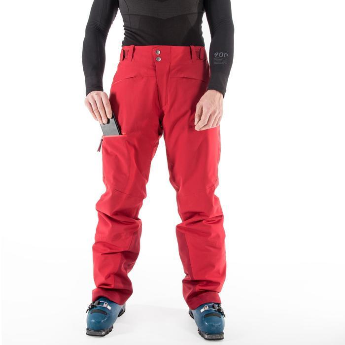 Pantalón de esquí All Mountain hombre AM900 Burdeos