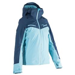 Abrigo Chaqueta esquí y nieve wed'ze AM900 mujer azul
