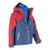 Children's All Mountain skiing jacket 990 - blue Burgundy