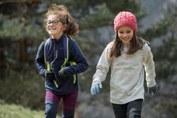 Polaire de randonnée enfant MH100 MARINE 7-15 ans