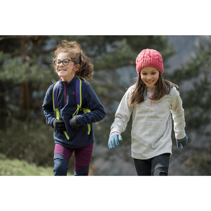 Fleecepullover MH120 Kinder grau