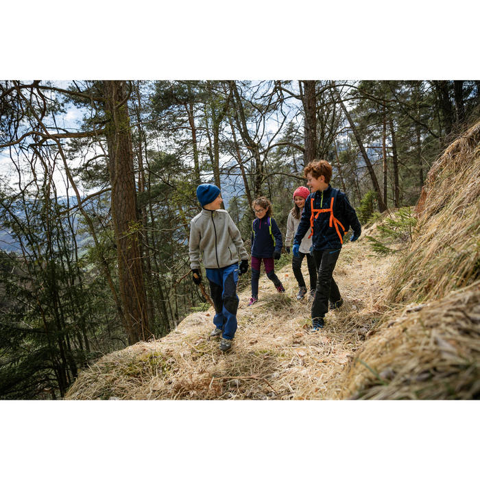 Forro polar de montaña trekking niños 7-15 años MH100 azul
