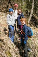 Children's Hiking Fleece Sweater MH120 Purple