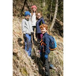 Fleecejacke Wandern MH150 Kinder Jungen 123-172cm rot