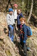 CHILDREN MOUNTAIN HIKING FLEECES, SOFT Hiking - Kids' Fleece MH100 - Blue QUECHUA - Hiking Clothes