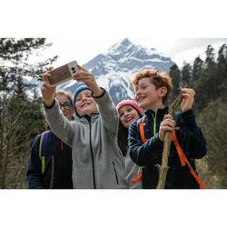 Fleecejacke Wandern MH150 Kinder Jungen 123-172cm grau