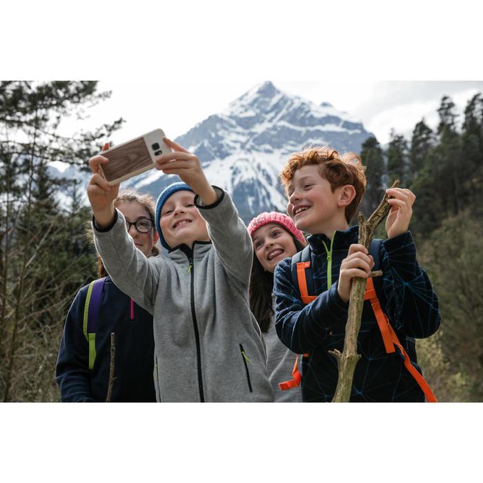 Fleecepullover Bergwandern MH120 Kinder türkis