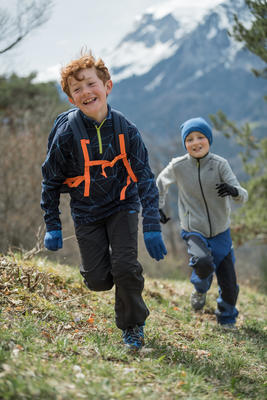 جاكيت من الفليس Fleece MH120 للأطفال للمشي لمسافات طويلة – لون رمادي.