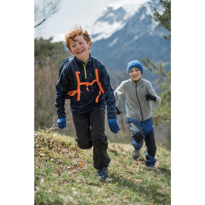 Softshellhose Wandern MH550 Kinder 123-172cm schwarz