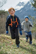 CHILDREN MOUNTAIN HIKING FLEECES, SOFT Hiking - Kids' Trousers MH550 - Grey QUECHUA - Hiking Clothes