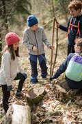 GIRL SNOW HIKING JACKETS & WARM PANTS Populärt - VARMA VANDRINGSTIGHTS SH100 JR QUECHUA - Underdelar