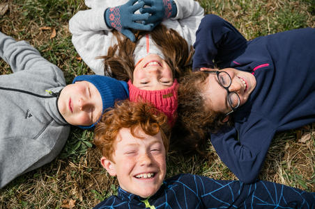 فليس H150 للأطفال من سن 7-15 للمشي – أزرق فاتح