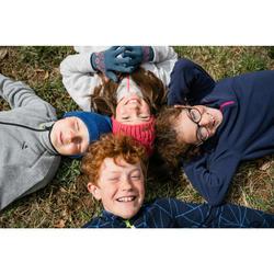 Fleecejacke Wandern MH150 Kinder Jungen 123-172cm dunkelblau